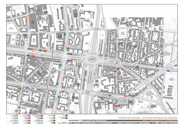données de cadrage: carte des transports en communs