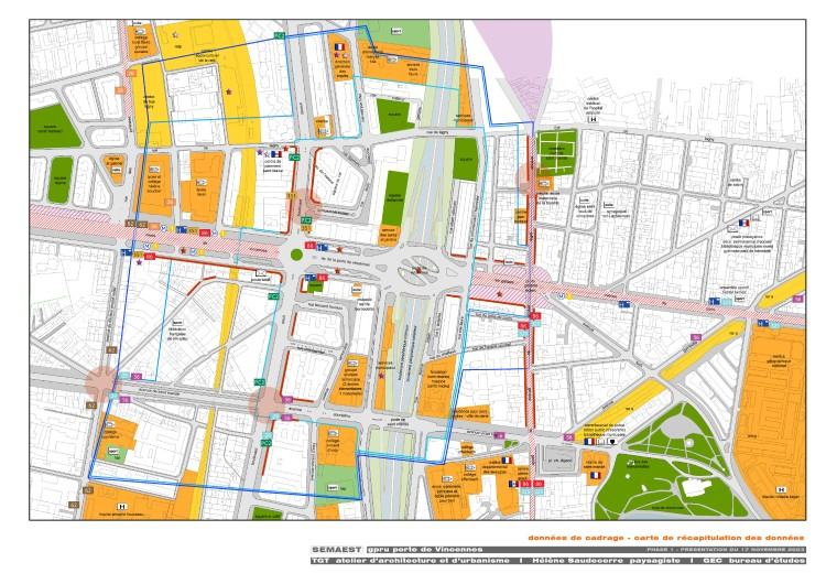 données cadrage: carte de récapitulation des données