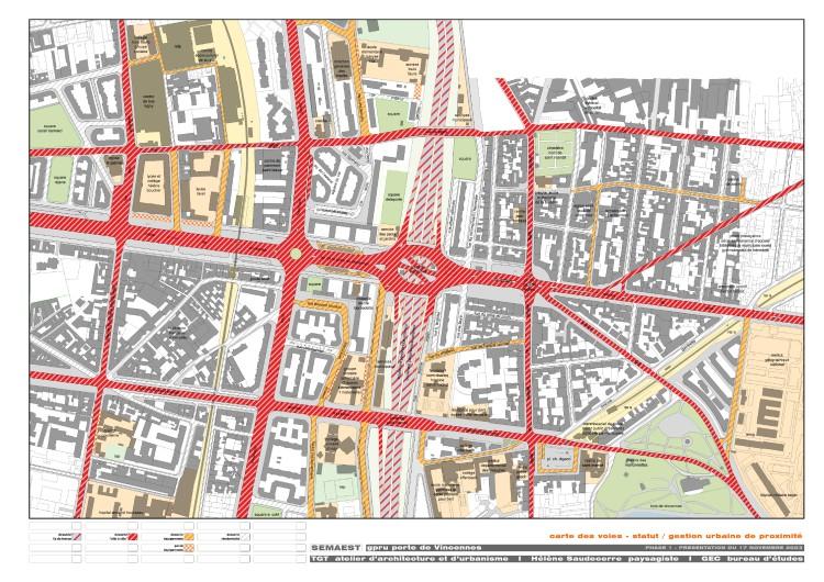 carte des voies: statut et gestion urbaine de proximité