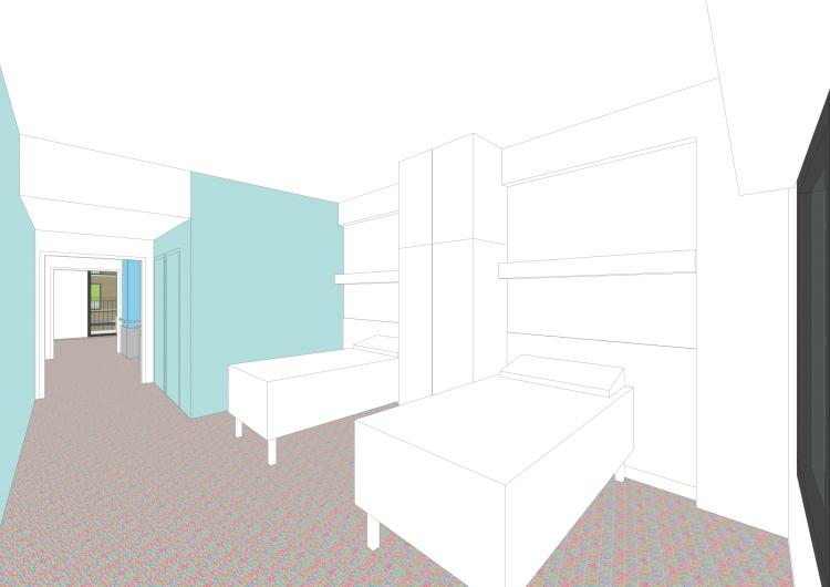 chambre du secteur soins de suite